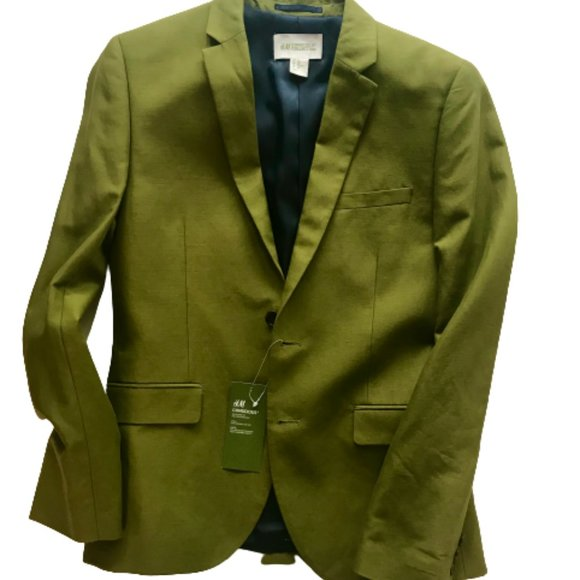 H&M Conscious Collection Green Olive Blazer